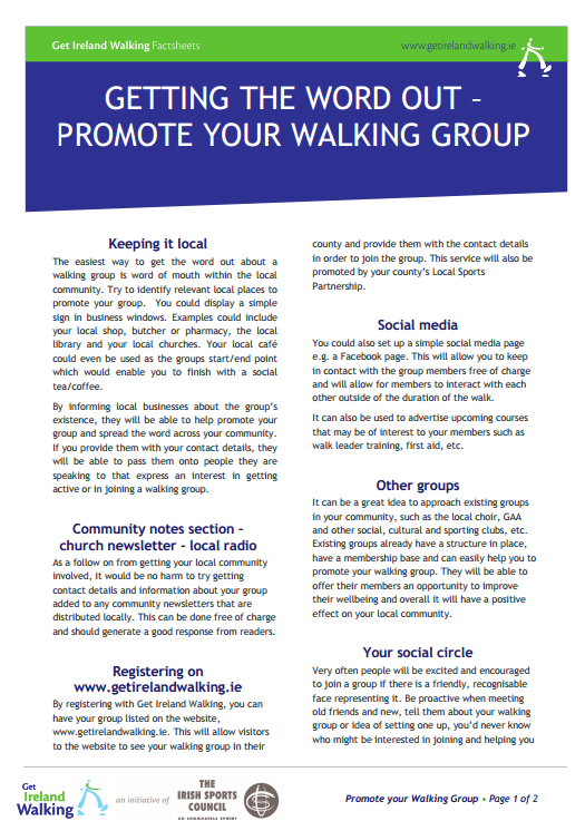 PROMOTE YOUR WALKING GROUP Screenshot